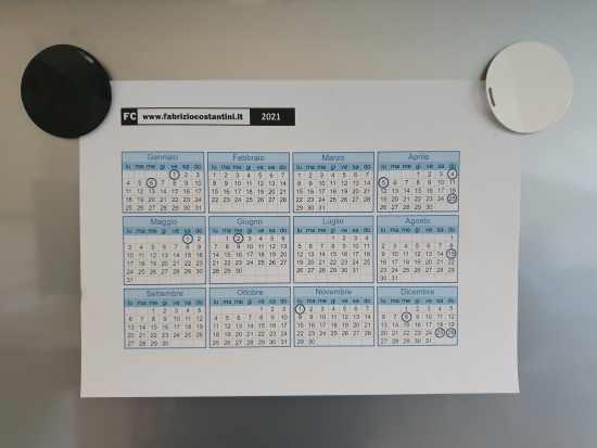 calendario personale