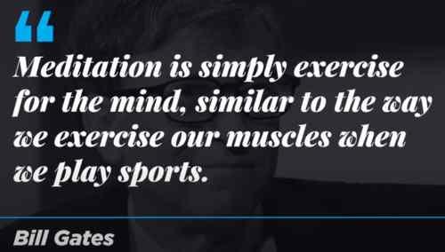 Bill Gates citazione sulla meditazione