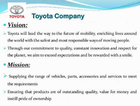 vision e mission Toyota