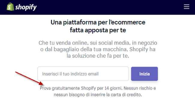 shopify prova