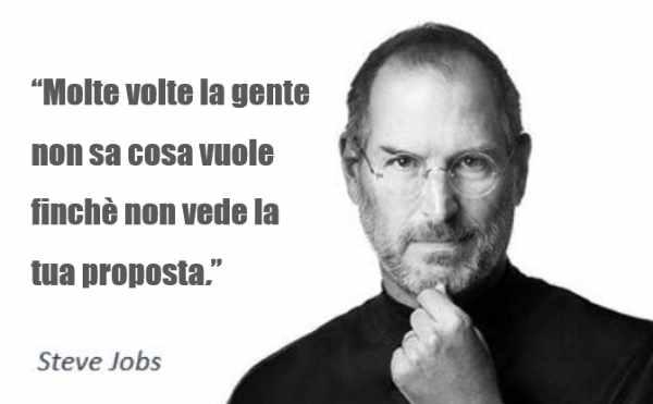 la promessa al mercato di Steve Jobs