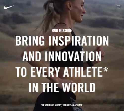 Valori condivisi Nike